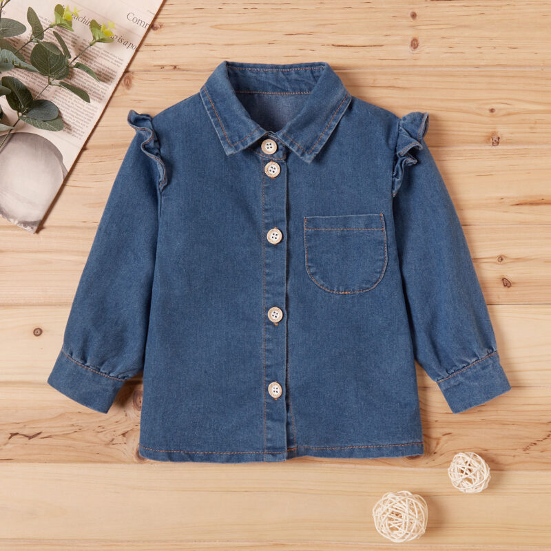 Baby Girl Retro Denim Coat & Jacket
