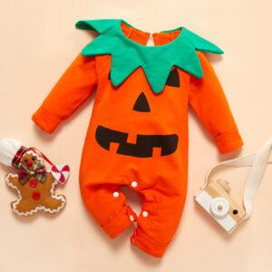 Baby Pumpkin Halloween Jumpsuit
