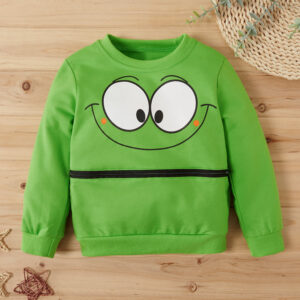 Baby / Toddler Cutie Cartoon Animal Decor Long-sleeve Sweatshirt