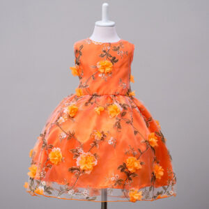 Baby / Toddler Girl 3D Floral Decor Sleeveless Party Dress