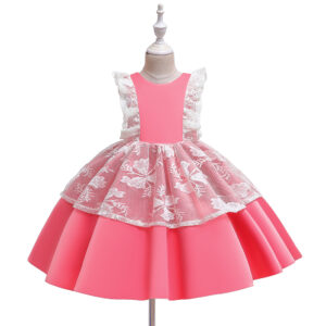 Baby / Toddler Lace Decor Sleeveless Party Dress