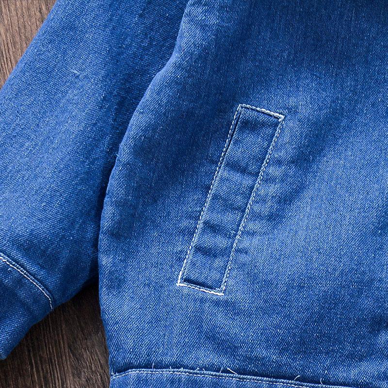 Baby / Toddler Girl Denim Lace Doll Collar Jacket