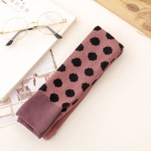 Baby / Toddler Girl Polka dots Colorblock Tie Leggings