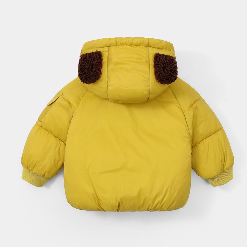 Baby / Toddler Animal Mouse Letter Print Pocket Hooded Down Coat