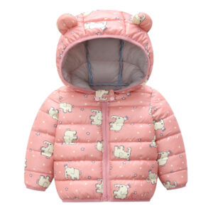 Baby / Toddler Animal Dinosaur Pattern Polka dots Stars print Hooded Down Coat