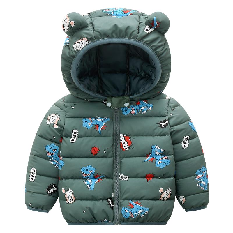 Baby / Toddler Animal Dinosaur Pattern Polka dots Stars print Hooded Down Coat
