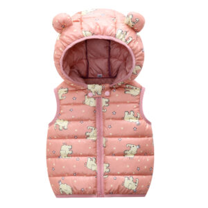 Baby / Toddler Animal Pattern Polka dots Hooded Sleeveless Down Coat