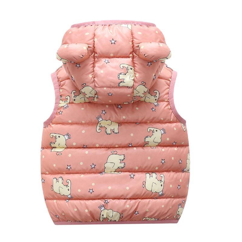Baby / Toddler Animal Pattern Polka dots Hooded Sleeveless Down Coat