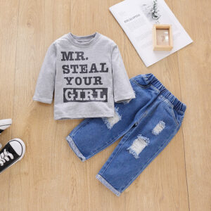 Baby Boy Casual Letter Baby's Sets