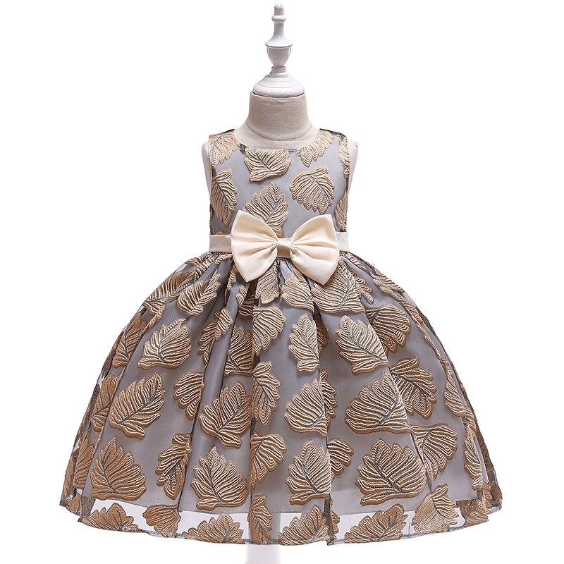 Baby / Toddler Bowknot Embroidered Sleeveless Party Dress
