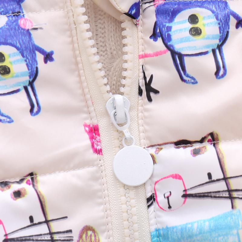 Baby / Toddler Girl Cute Cartoon Print Long-sleeve Cotton Hooded Coat