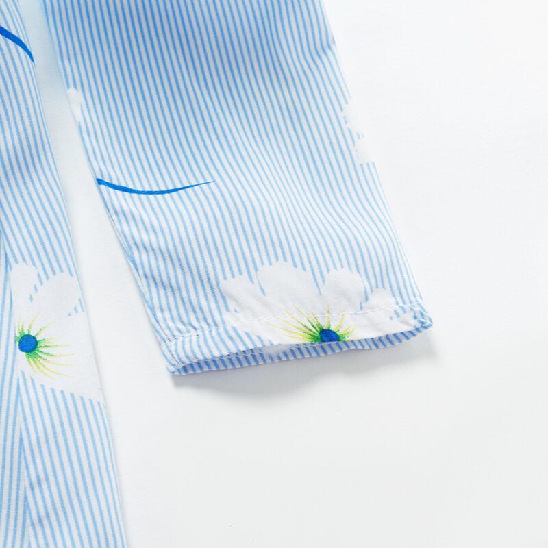 Baby / Toddler Girl Floral Dandelion Print Striped Long-sleeve Dress