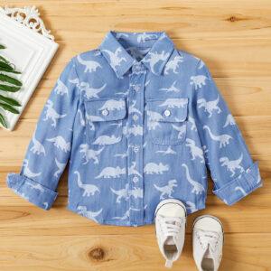 Baby / Toddler Boy Animal Dinosaur Print Pocket Shirt