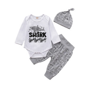 Toddler Long Sleeve T-Shirt Cotton Tees Top (Shark Doo)