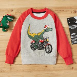 Baby / Toddler Cartoon Dinosaur Print Long-sleeve Pullover