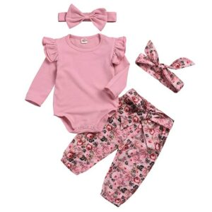 Baby Girl Clothes Newborn Infant Baby Outfit Sets Long Sleeve Tops Pants Clothes Set