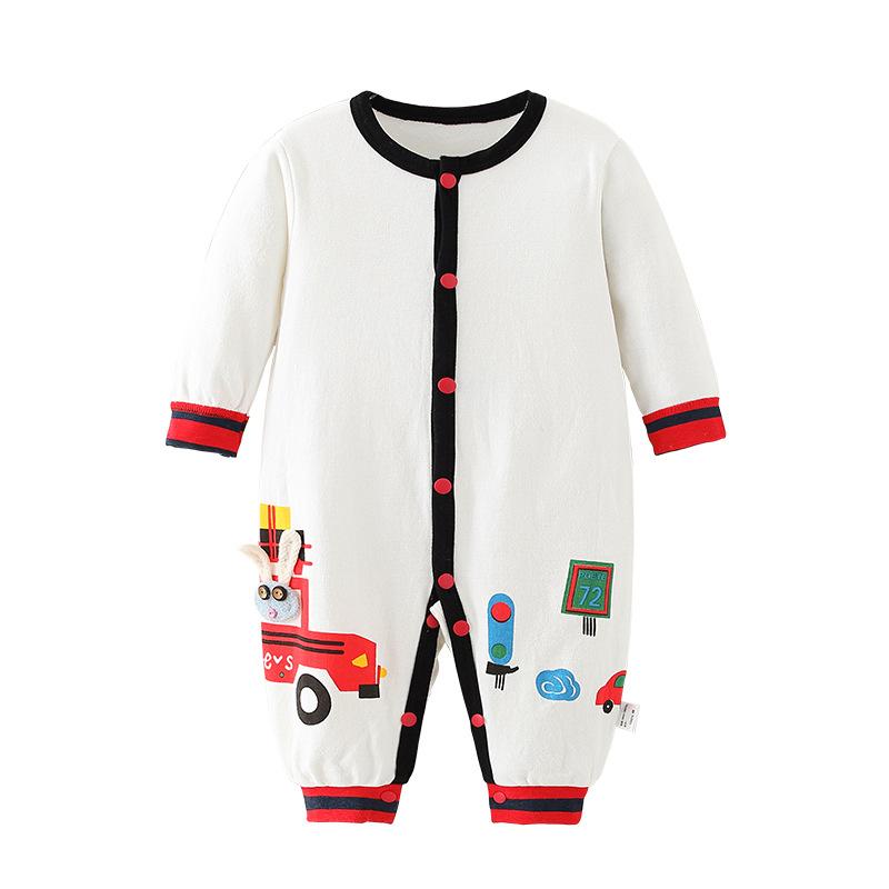 Infant Baby Cotton Long Sleeve Jumpsuit Car Style