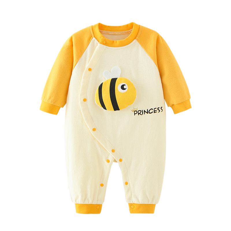 Infant Baby Long Sleeve Jumpsuit Bee Style