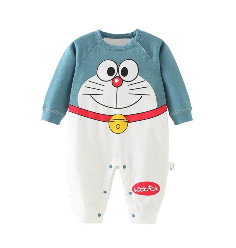 Autumn Infant Baby Cotton Long Sleeve Jumpsuit Cartoon Style
