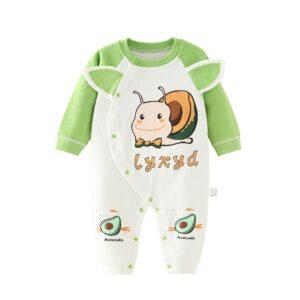 Autumn Infant Baby Cotton Long Sleeve Jumpsuit Snail Style