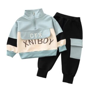 Autumn Kid Long Sleeve Top Pant 2 PCS Letter Style
