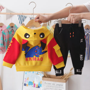Autumn Kid Boy Long Sleeve Top Pant 3 PCS Bikachu