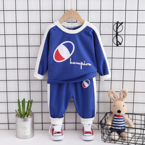 Autumn Kid Long Sleeve Top Pant 2 PCS Tricolor Eye Style
