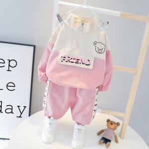Autumn Baby Long Sleeve Top Pant 2 PCS Bear Style