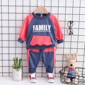 Autumn Kid Long Sleeve Top Pant 2 PCS Family