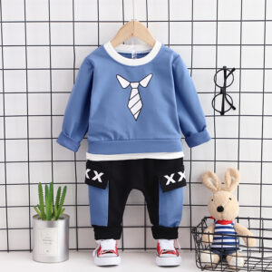Autumn Kid Long Sleeve Top Pant 3 PCS Zoo