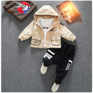 Autumn Kid Long Sleeve Hoodie Pant 2 PCS Letter Style