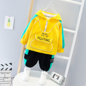 Autumn Baby Long Sleeve Top Pant 2 PCS Simple Style