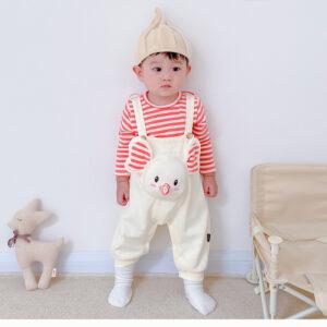 Autumn Baby Boy Gril Long Sleeve Bodysuit 2Pcs Elephant Style