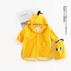 Autumn Kid Boy Long Sleeve Raincoat Dinosaur Style