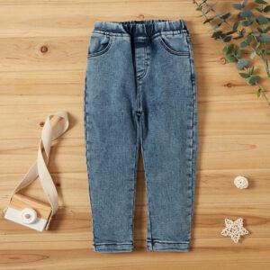 Toddler Solid Pocket Jeans