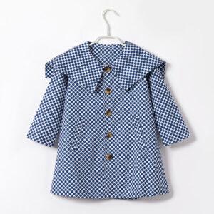 Toddler Girl Polka dots Vintage Doll Collar Wind Coat