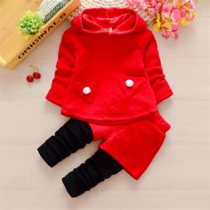 Baby / Toddler Heart Design Pocket Hoodie and Fake Shorts Pants Set
