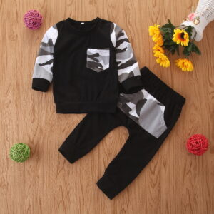 Baby / Toddler Trendy Camouflage Pocket Tee and Pants Set
