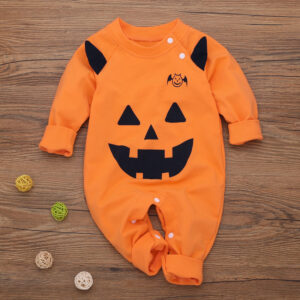 Baby Halloween Style 3D Monster Design Long-sleeve Jumpsuit