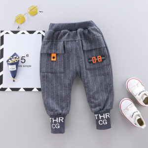 Baby / Toddler Letter Print Striped Trouser (No shoes)