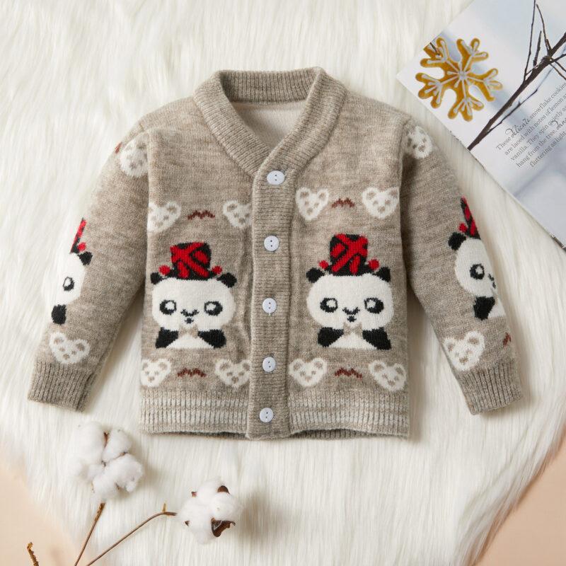 Baby / Toddler Adorable Panda Decor Warm Knitwear