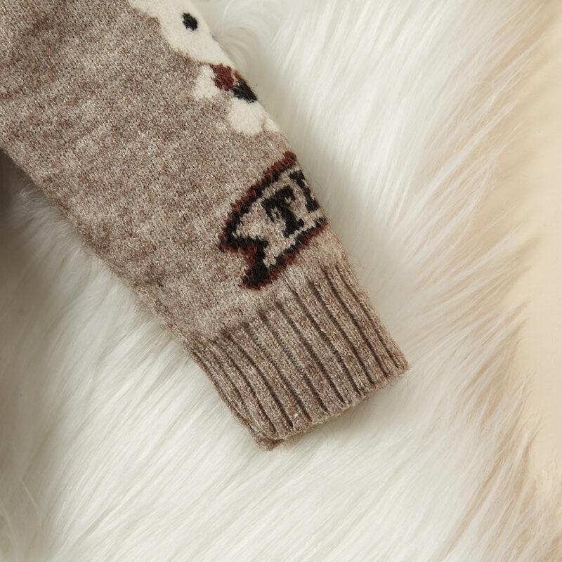 Baby / Toddler Adorable Bear Print Warm Knitwear