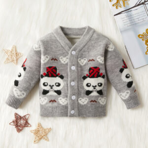 Baby / Toddler Adorable Panda Decor Warm Knitwear