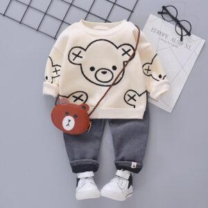 Baby / Toddler Boy Bear Print Sweatshirt and Pants Set