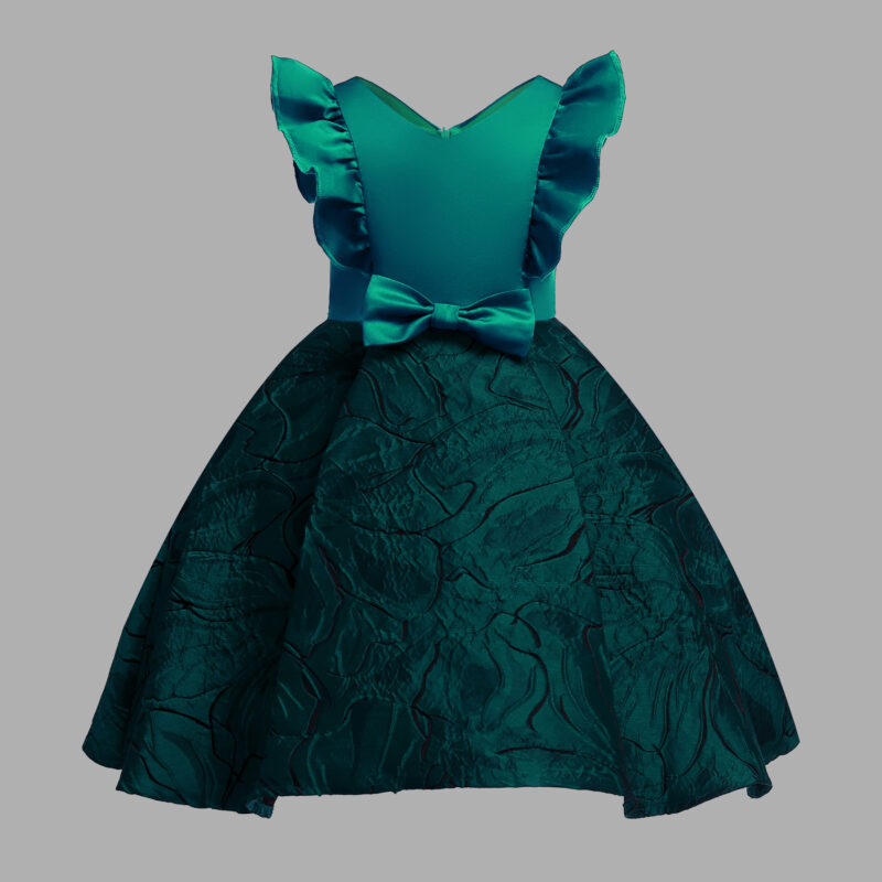 Toddler Girl's Bow Flounced Party Dress