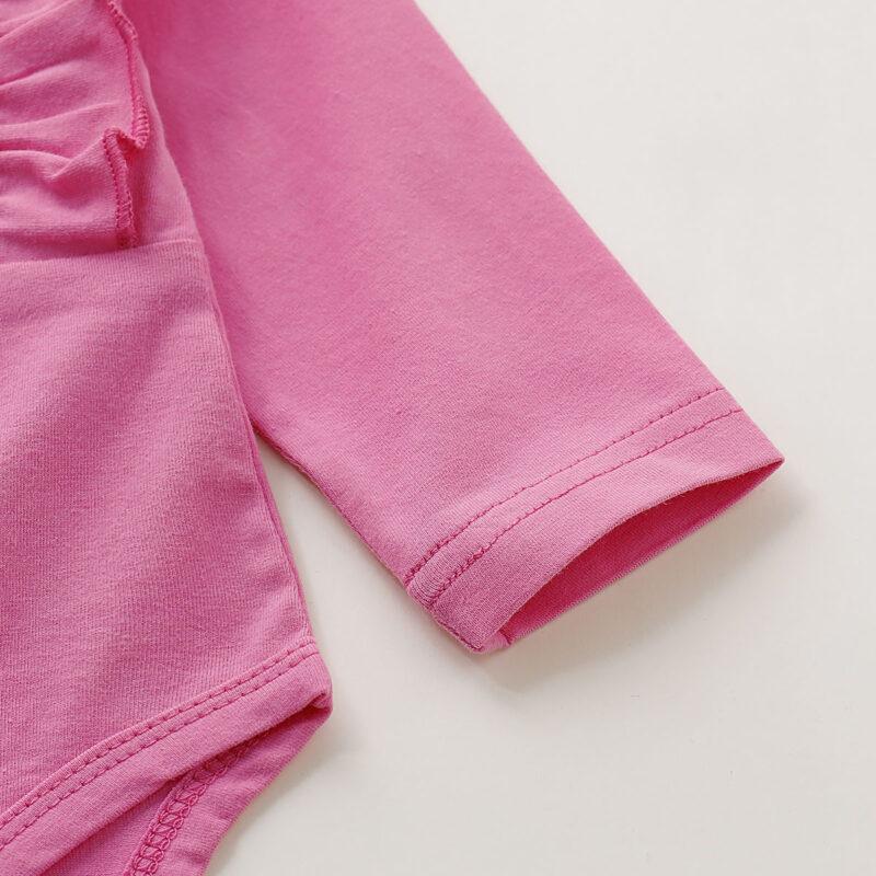 Flounced Bodysuit and Floral Print Pants Set