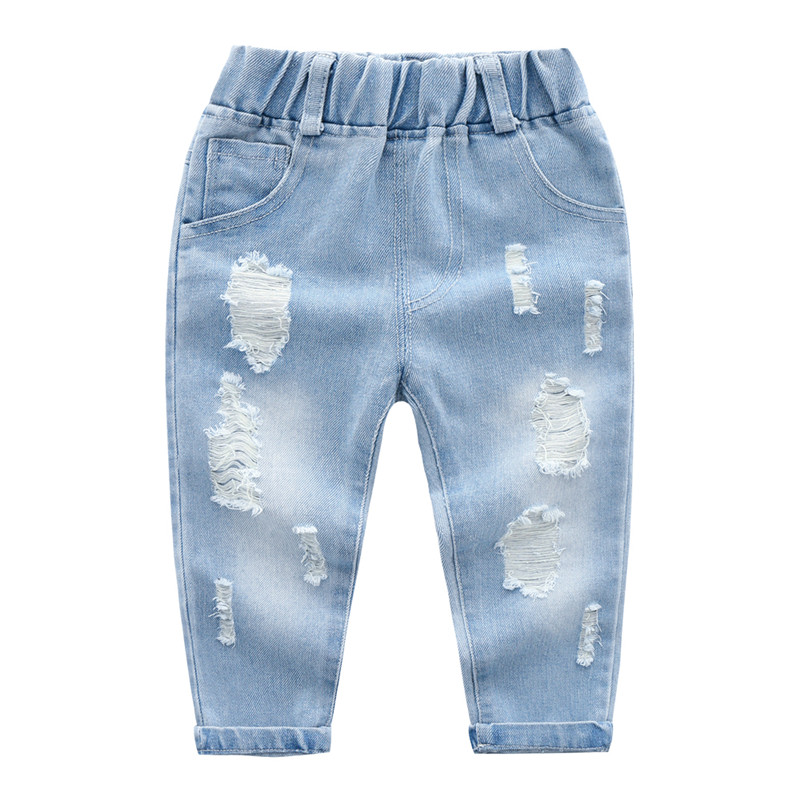 Toddler Boy / Girl Trendy Ripped Jeans