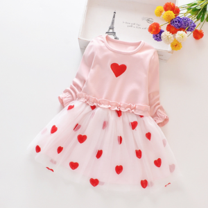 Baby / Toddler Sweet Faux-two Heart Design Princess Tutu Dress