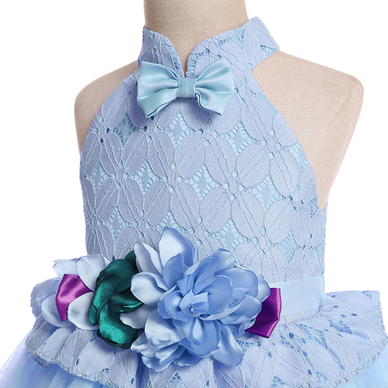 Baby / Toddler Girl Pretty Floral Decor Tulle Solid Party Dress