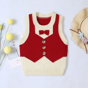 Sleeveless Knitwear Botton Front